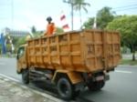 Truk pengangkut sampah di kota Palangka Raya (Dok. Andriani S. Kusni)