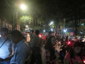 Para pengunjung Festival Budaya Dayak 2015 di Yogyakarta (Foto.Dok. Lembaga Kebudayaan Dayak Kalimantan Tengah/Andriani.S. Kusni, 2015).J