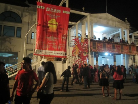 Suaana Taman Budaya Yogyakarta sebelum penutupan Festival (Foto.Dok. Lembaga Kebudayaan Dayak Kalimantan Tengah/Andriani S. Kusni, 2015)