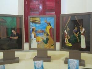 Dokumen yang dipamerkan di dalam Museum La Galigo (Foto.Dok. Andriani S. Kusni, 2014)