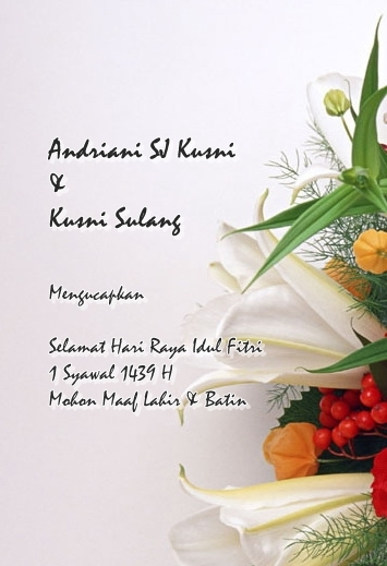 Selamat Hari Raya 1439 H